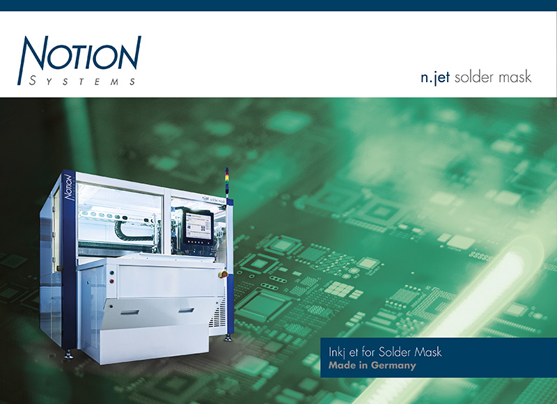 Flyer (datasheet) for n.jet solder mask inkjet printer